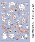 set of new year doodles | Shutterstock .eps vector #511051912