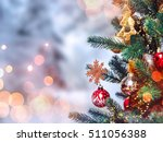 christmas tree background and... | Shutterstock . vector #511056388