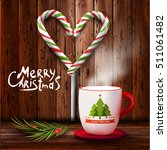 christmas and new year cup of... | Shutterstock .eps vector #511061482
