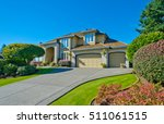 big custom made luxury house... | Shutterstock . vector #511061515