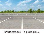 empty parking lot against a... | Shutterstock . vector #511061812