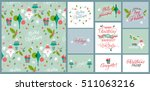 christmas holiday background.... | Shutterstock .eps vector #511063216