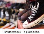 vintaeg black shoes in 2nd shop ... | Shutterstock . vector #511065256