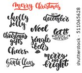 lettering christmas and new... | Shutterstock .eps vector #511065628