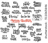 lettering christmas and new... | Shutterstock .eps vector #511065646