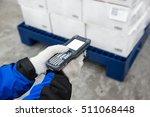bluetooth barcode scanner... | Shutterstock . vector #511068448