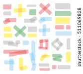 scotch tape pieces set. vector... | Shutterstock .eps vector #511069828