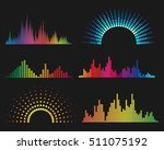 music digital waveforms.... | Shutterstock .eps vector #511075192