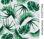 tropical palm leaves  jungle... | Shutterstock .eps vector #511077466