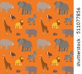 seamless pattern with cartoon... | Shutterstock .eps vector #511077856