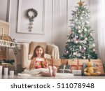 merry christmas and happy... | Shutterstock . vector #511078948