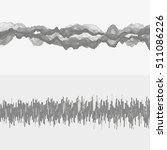 segmented vector audio waves.... | Shutterstock .eps vector #511086226
