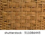 closeup rattan basketry pattern | Shutterstock . vector #511086445