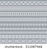 set of white borders isolated... | Shutterstock . vector #511087468