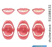 set of mouth and tooth... | Shutterstock .eps vector #511088152