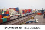 freight train with cargo... | Shutterstock . vector #511088308