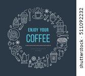 coffee shop poster template.... | Shutterstock .eps vector #511092232