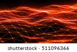 plexus red light 3d rendering | Shutterstock . vector #511096366