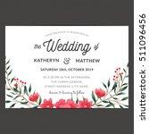 wedding invitation card... | Shutterstock .eps vector #511096456
