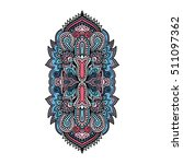 vector ornamental lotus flower  ... | Shutterstock .eps vector #511097362