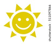 smiley sunny face icon  vector... | Shutterstock .eps vector #511097866