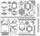 set of black white design...   Shutterstock . vector #511103572