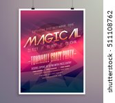 party flyer invitation template ... | Shutterstock .eps vector #511108762