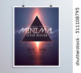minimal space theme flyer... | Shutterstock .eps vector #511108795