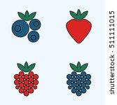 forest berries  raspberry ... | Shutterstock .eps vector #511111015