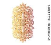 vector ornamental lotus flower  ... | Shutterstock .eps vector #511115098