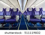 empty passenger airplane seats... | Shutterstock . vector #511119832
