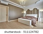bedroom with a beautiful... | Shutterstock . vector #511124782