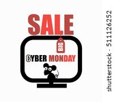 cyber monday sale advertising... | Shutterstock .eps vector #511126252