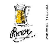 beer mug vector silhouette...   Shutterstock .eps vector #511130866
