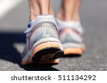running shoe closeup of man... | Shutterstock . vector #511134292