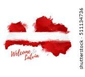 symbol  poster  banner latvia.... | Shutterstock .eps vector #511134736