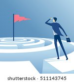 businessman looking for a way... | Shutterstock .eps vector #511143745