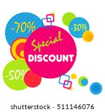 special offer sale tag discount ... | Shutterstock .eps vector #511146076