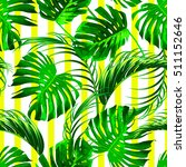 tropical palm leaves  jungle... | Shutterstock .eps vector #511152646