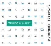 blue and gray presentation icon ...