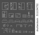big set of icons line the... | Shutterstock .eps vector #511154752