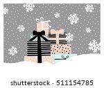 christmas greeting card design...   Shutterstock .eps vector #511154785