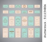 set of vintage luxury greeting... | Shutterstock .eps vector #511154806