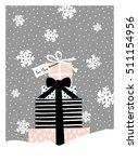 christmas greeting card design... | Shutterstock .eps vector #511154956