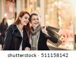 christmas shopping  focus on a... | Shutterstock . vector #511158142