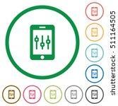 smartphone tweaking flat color... | Shutterstock .eps vector #511164505