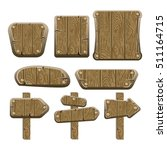 a set of wooden boards  panels...