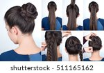 tutorial photo step by step of... | Shutterstock . vector #511165162