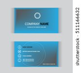 business card template | Shutterstock .eps vector #511166632