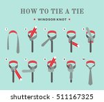 instructions on how to tie a... | Shutterstock .eps vector #511167325